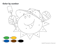 Color by number-Summer