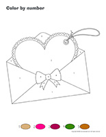 Color by number-Valentine's Day-Love letters