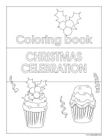 Coloring book Christmas-Celebration