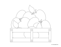 Coloring pages theme-Apples