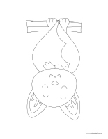 Coloring pages theme-Bats
