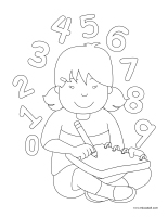 Coloring pages theme-Books
