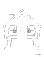 Coloring pages theme-Cabins