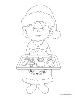 Coloring pages theme-Christmas-Baking