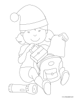 Coloring pages theme-Christmas in July