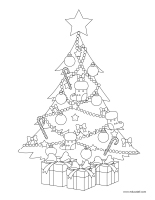 Coloring pages theme-Christmas traditions