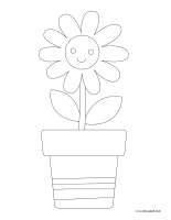 Coloring pages theme-Daisies