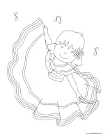 Coloring pages theme-Dance