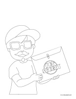 Coloring pages theme-Detectives