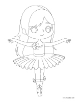 Coloring pages theme-Dolls