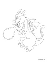 Coloring pages theme-Dragons