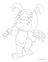 Coloring pages theme-Easter-2020