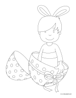 Coloring pages theme-Easter Pastel colors