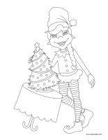 Coloring pages theme-Elves