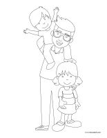Coloring pages theme-Father's Day 2019