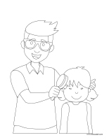 Coloring pages theme-Father's Day 2021