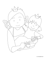 Coloring pages theme-Father's Day