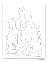Coloring pages theme-Fire