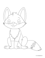 Coloring pages theme-Foxes