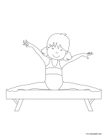 Coloring pages theme-Gymnastics
