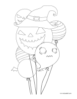 Coloring pages theme-Halloween-Decorations