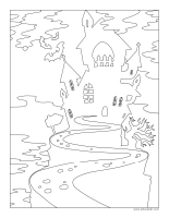Coloring pages theme-Halloween-In the dark