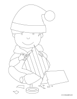 Coloring pages theme-Handmade gifts