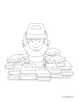 Coloring pages theme-I am learning to sort