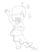Coloring pages theme-Karaoke
