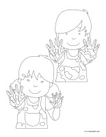 Coloring pages theme-Kindergarten