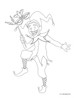 Coloring pages theme-Mardi Gras