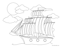 Coloring pages theme-Marine transportation