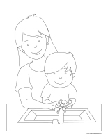 Coloring pages theme-Mother's Day 2020