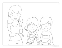 Coloring pages theme-Mother's Day 2021