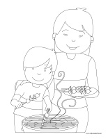Coloring pages theme-Mother's Day