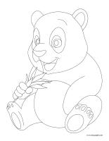 Coloring pages theme-Pandas