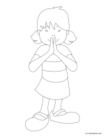 Coloring pages theme-Politeness