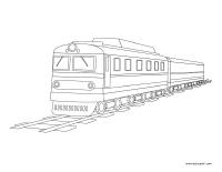 Coloring pages theme-Public transportation