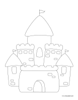 Coloring pages theme-Sandcastles