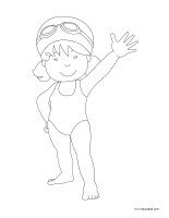Coloring pages theme-Swimming