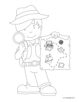 Coloring pages theme-Treasure