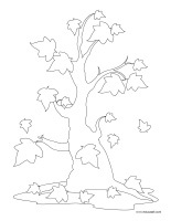 Coloring pages theme-Trees