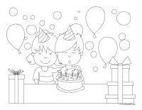 Coloring pages theme-Universal Children's Day
