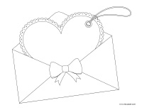 Coloring pages theme-Valentine's Day-Love letters