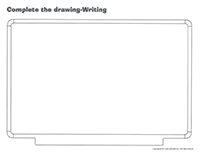 Complete the drawing-Writing