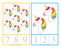 Counting cards-Unicorns-1