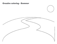 Creative coloring-Summer