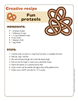 Creative recipe-Fun Pretzels