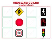 Crossing guard-treasure hunt