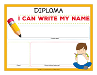 Diploma-I can write my name